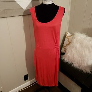 NWOT Coral Knotted Waist Dress